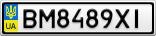Номерной знак - BM8489XI