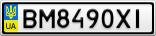 Номерной знак - BM8490XI
