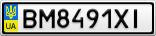 Номерной знак - BM8491XI