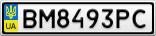 Номерной знак - BM8493PC