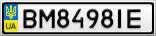 Номерной знак - BM8498IE