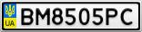 Номерной знак - BM8505PC