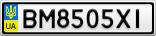 Номерной знак - BM8505XI