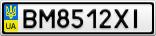 Номерной знак - BM8512XI