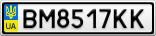 Номерной знак - BM8517KK