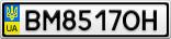 Номерной знак - BM8517OH