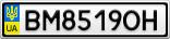 Номерной знак - BM8519OH