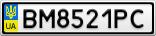 Номерной знак - BM8521PC