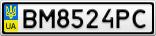 Номерной знак - BM8524PC