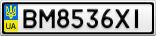 Номерной знак - BM8536XI