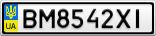 Номерной знак - BM8542XI