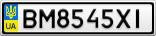Номерной знак - BM8545XI