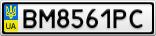 Номерной знак - BM8561PC