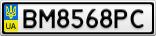 Номерной знак - BM8568PC