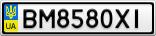 Номерной знак - BM8580XI