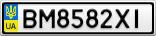 Номерной знак - BM8582XI
