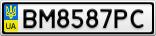Номерной знак - BM8587PC