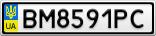 Номерной знак - BM8591PC
