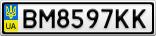 Номерной знак - BM8597KK