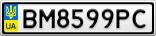 Номерной знак - BM8599PC
