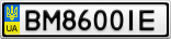 Номерной знак - BM8600IE