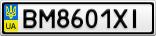 Номерной знак - BM8601XI