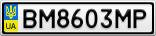Номерной знак - BM8603MP