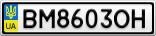 Номерной знак - BM8603OH