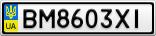 Номерной знак - BM8603XI