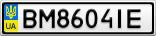Номерной знак - BM8604IE