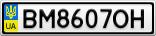 Номерной знак - BM8607OH