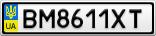 Номерной знак - BM8611XT