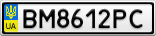Номерной знак - BM8612PC