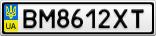 Номерной знак - BM8612XT