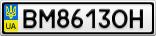 Номерной знак - BM8613OH