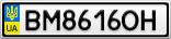 Номерной знак - BM8616OH