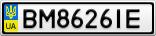 Номерной знак - BM8626IE