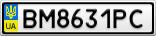 Номерной знак - BM8631PC
