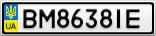 Номерной знак - BM8638IE