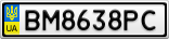 Номерной знак - BM8638PC