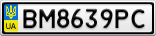Номерной знак - BM8639PC