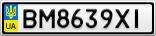 Номерной знак - BM8639XI