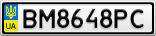 Номерной знак - BM8648PC