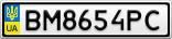 Номерной знак - BM8654PC