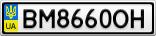 Номерной знак - BM8660OH