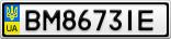 Номерной знак - BM8673IE