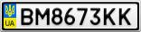 Номерной знак - BM8673KK