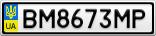 Номерной знак - BM8673MP