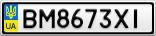 Номерной знак - BM8673XI