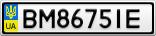Номерной знак - BM8675IE